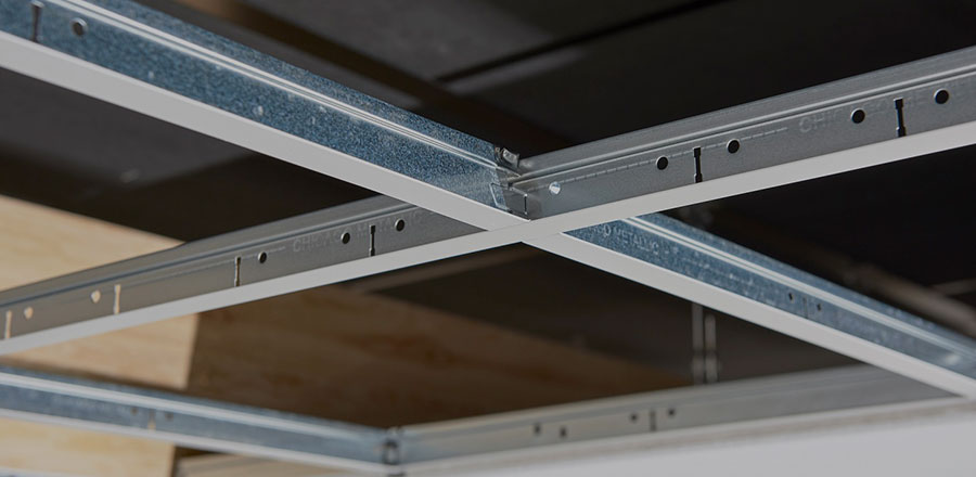 Image of metal suspension systems sold by Clares